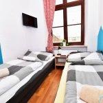 Sypialnia z telewizorem i dużym oknem - Hostel ul. Kotlarska 40, Wrocław